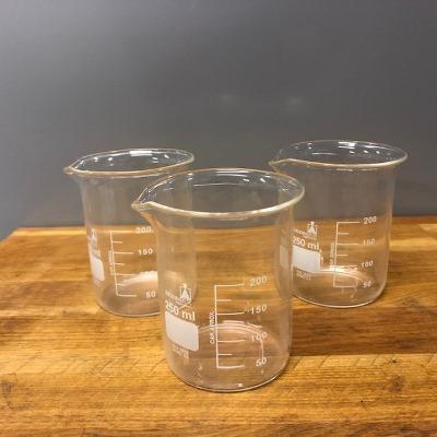Bekerglas, laag, borosilicaatglas 250ml