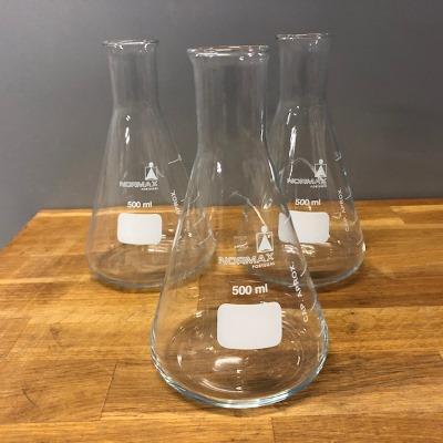 Erlenmeyerkolf glas, 500 ml, nauwhals
