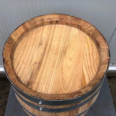 Kastanje houten portvat 20 liter geolied met lijnolie