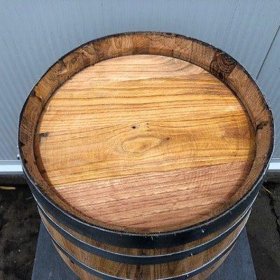 Kastanje houten portvat 30 liter, geolied met lijnolie