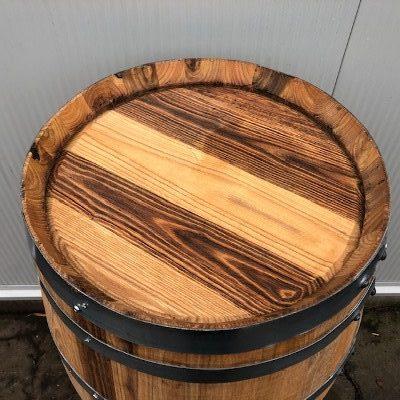 Kastanje houten portvat van 110 liter, geolied met lijnolie