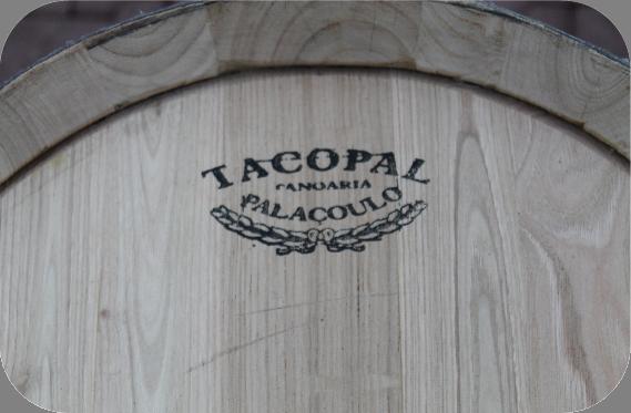 Kastanje houten portvat van 110 liter