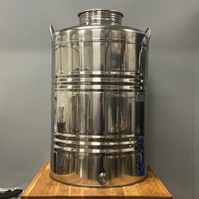 Olijfolievat RVS 18/10 100 liter