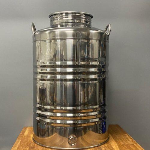Olijfolievat RVS 18/10 50 liter